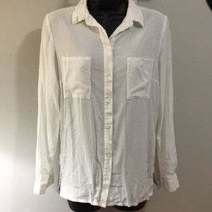 Sheer white button down H&M